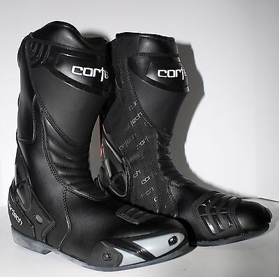 Cortech Latigo WP Size 10 EU45 Water Proof Motorcycle Track Day Boots Shoes