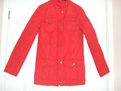 """Girls Red Quilted Jacket Size 8. 30 """" chest."""
