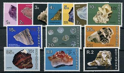 Botswana 1976-77 Minerals short set to 2p on 2r SG367/80 (exc SG378) MNH