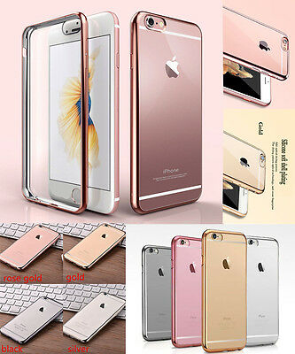 Fit For Apple iPhone 7 Case Transparent Crystal Clear Gel TPU Soft Skin Cover