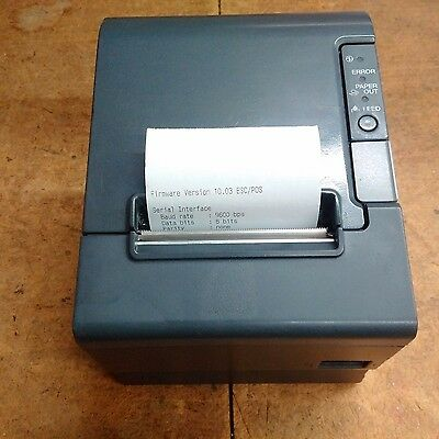 Epson TM-T88IV POS Thermal Receipt Printer RS232 Interface with Power Supply