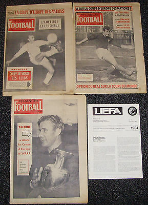 1960 European Nations Cup + Official Uefa Edition Ussr France Yugoslavia Czech