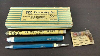 "TEC ""Retouching Set"" Holder, Eraser, Assorted Leads Drafting / Photography"