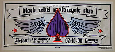 2006 Black Rebel Motorcycle Club - Columbus Silkscreen Concert Poster S/N Martin