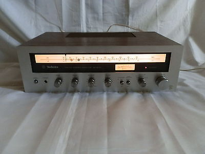 Technics SA-5070 Vintage 1970s Tuner Amplifier Silver / Wood Made in Japan