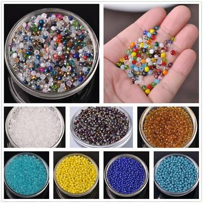 4mm 100/500pcs Rondelle Faceted Jewelry Findings Charm Crystal Glass Loose Beads