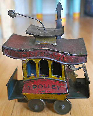 Toonerville Trolley 280098 Tinplate Toy 1922 Fontaine Fox Germany Rare Antique