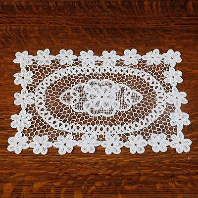 "Rectangular Doily - 12"" X 18"" Cream Coloured"