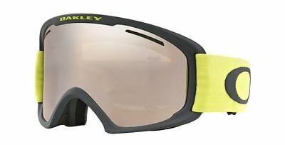 Oakley 7045 26 O2 Xl Snow Goggle Neve Iron Citrus W Black Iridium Maschera