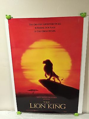 The Lion King Movie Poster 27x40 Style B One Sheet **Rare International Version