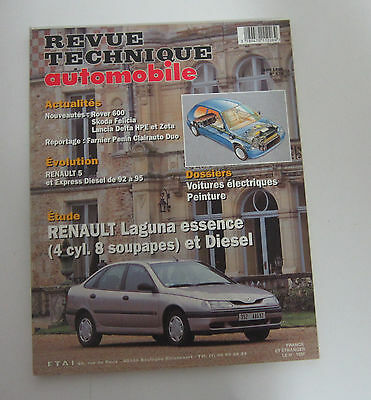 Revue technique automobile RTA 574 Renault laguna essence 4 cyl. 8 soupa. diesel