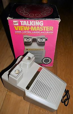 VINTAGE GAF TALKING VIEWMASTER STEREO VIEWER 1970's BOXED FULLY WORKING RARE