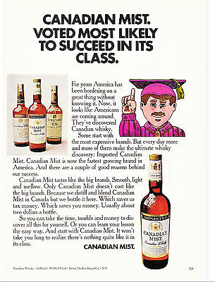 Original Print Ad-1971 CANADIAN MIST-VOTED MOST LIKELY TO SUCCEED IN ITS CLASS.