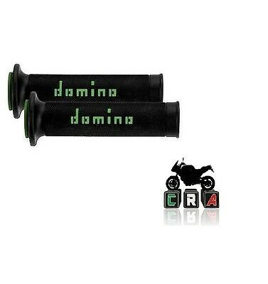 Domino Manopole Racing Forate Super Soft Nero-Verde Kawasaki Z 750/800/1000