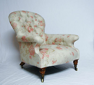 William Iv Satin Birch Spoon Back Armchair By Miles & Edwards, London