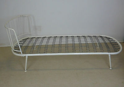 Ernest Race ? Mid Century Metal Single Bed Vintage Retro Staples Era