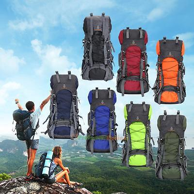 60L Waterproof Outdoor Camping Hiking Bag Backpack Rucksack Travel FLAME HORSE