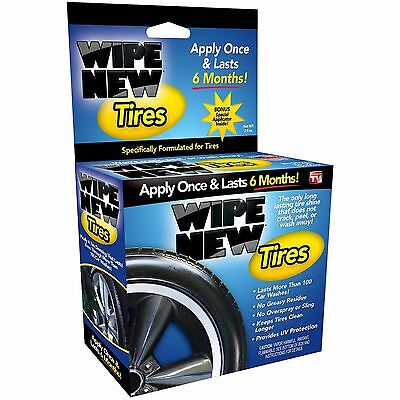 Wipe New Tires, As Seen on TV, 6 Month Tire Protector and Cleaner/Shiner, New