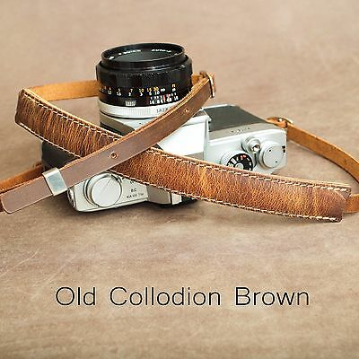 "1901 ""Steichen"" Leather Camera Strap - ADJUSTABLE 107-146cm  Old Collodion Brown"