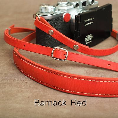 "1901 ""Steichen"" Leather Camera Strap - ADJUSTABLE 107-146cm - Barnack Red"