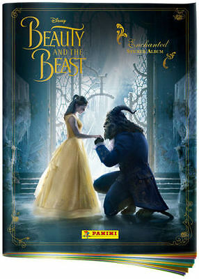PANINI DISNEY BEAUTY AND THE BEAST ENCHANTED Sticker ALBUM + 10 Pks of STICKERS