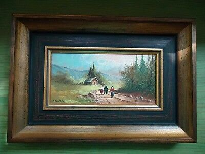 -Antique Oil Painting-Bavaria-Old Germany-Famous Painter Seekatz-Gift-Art Deco
