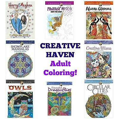Creative Haven Adult Coloring Book--Buy 1 Get 1 25% OFF (Add 2 to Cart)