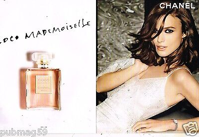 Publicité Advertising 2015 (2 pages) Parfum Mademoiselle Chanel Keira Knightley