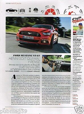 Coupure de Presse Clipping 2015 (1 page) Ford Mustang V8 GT
