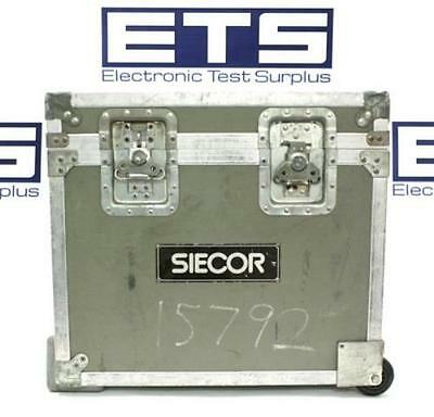 Siecor Electronic Test Equipment Flight Road Case w/ Handle & Wheel 22x19.5x10.5