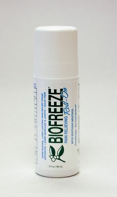 NEW BIOFREEZE ROLL-ON PAIN RELIEVING 3 OZ (89ml) (CANADIAN SELLER)