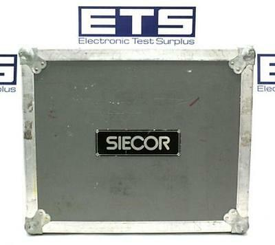 Siecor Electronic Equipment Flight Road Case w/ Handle & Wheels 22x17.75x14.75