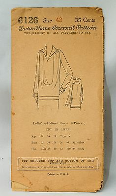 Early 1900s Ladies Home Journal Pattern~Blouse~Factory Folded~#6126~SZ 42
