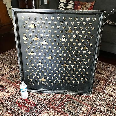 Antique Turn Of The Century KENTUCKY Miner's Tags / Hotel Key Board