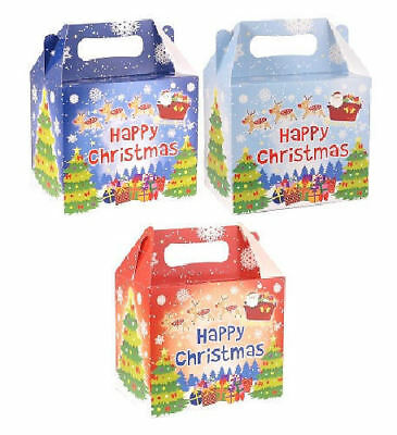 6 Christmas Party Boxes - Food Loot Lunch Cardboard Gift Kids
