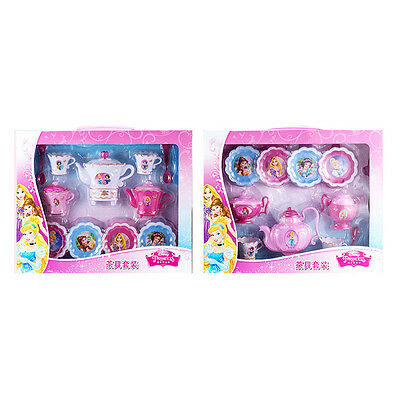 Brand New Disney Princess Plastic Tea Set Toy Cups Saucer Milk Jug Teapot Spoons