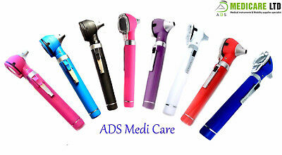 New F.O Mini Otoscope Examination LED Diagnostic Examination +10 Extra Specula
