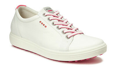ECCO 2017 Womens Casual White Hybrid Hydromax Spikeless Leather Golf Shoes