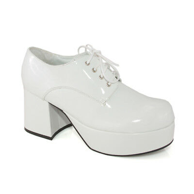 "Mens White Platform 3"" Heel Halloween Shoes"
