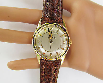 Longines Wristwatch 1956 AUTOMATIC 17J 19AS 14K SOLID GOLD CASE