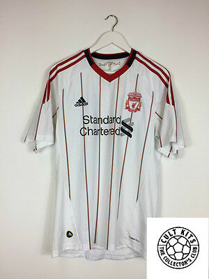 LIVERPOOL 10/11 Away Football Shirt (M) Soccer Jersey Adidas
