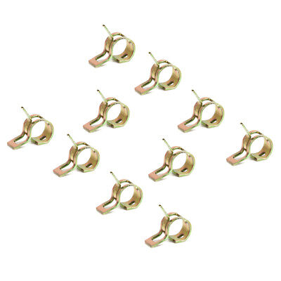 10 x Spring Clip Fuel Hose Line Water Pipe Air Tube Clamps Fastener 9mm