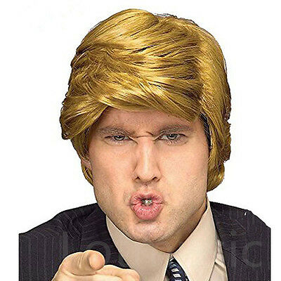 Fashion Wig Donald Trump Style Billionaire Blonde Hair for Fans Cosplay Dress