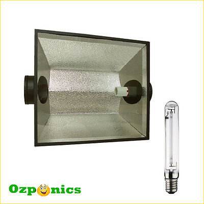 5x THE HOOD 8 AIR HYDROPONICS COOLED REFLECTOR SHADE WITH FREE HPS GROW LIGHT