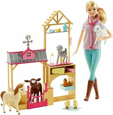 Barbie Farm Veterinarian Doll and Playset