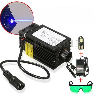 445/450nm Blue Laser Module + Glasses Goggles For Laser Cutter Engraving Machine