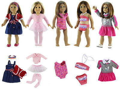 5 set Doll Clothes for 18'' American Girl Doll Princess Costumes B4-7