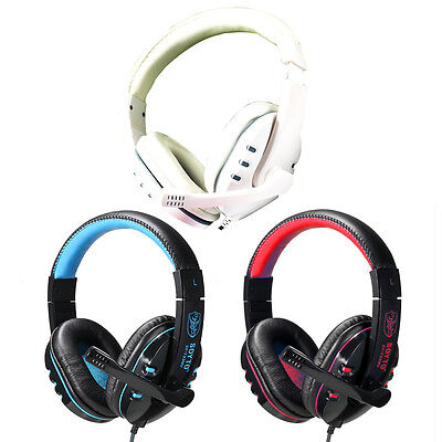 3.5mm PC Gaming Headset Bass Headphone With Mic. Microphone For PS3 Mac Skype