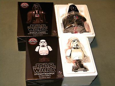 Star Wars Storm Trooper Classic Bust Darth Vader Classic Bust Gentle Giant, NEW
