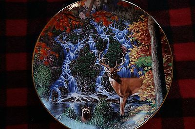 Danbury Mint Stag Falls Collector Plate
